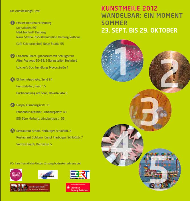 """Kunstmeile 2012 """"Wandelbar: ein Moment Sommer"""""""