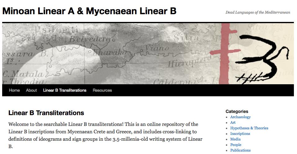 Linaer B – Schreibsystem